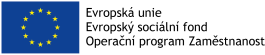 Logo EU ESF Operační program zaměstnanost